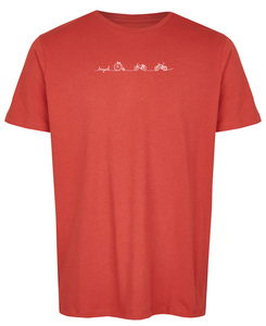 Basic Bio T-Shirt Rundhals Bicycle Line - Brandless