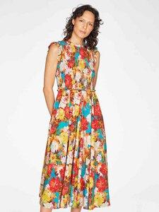Midi Kleid - Ramo Mexicano Shirring Flare Dress - Thought