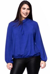LESLY Blusenshirt mit locker fallenden Stehkragen (Uni) - Ingoria