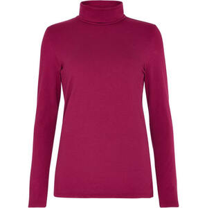 Laila Roll Neck Top Berry - People Tree