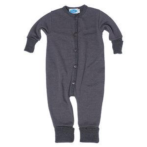 Baby und Kinder Schlafoverall mit Umschlag aus Frotteestrick Bio-Merinowolle/Seide - Reiff