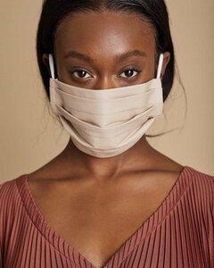 Gesichtsmaske aus Bio-Baumwolle in sand - JAN N JUNE