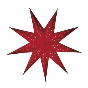 """Papierstern beleuchtet   Weihnachtsstern """"baby spumante rot"""" S - Mitienda Shop"""