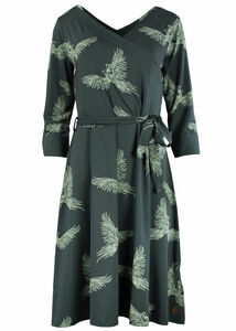 Frauen Kleid Wickeloptik mit Phoenix Print - Blaa!