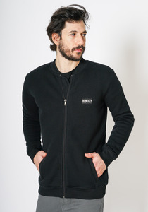 Unisex Waffel Flight Zip Sweat - Honesty Rules