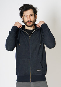 Denim Zip Hooded Sweat - Honesty Rules