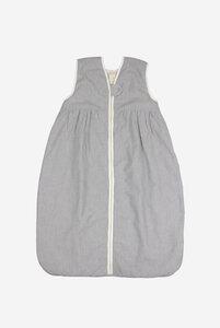 Bio Baby Ganzjahresschlafsack mit Plüschfutter ohne Ärmel mit Streifen - Lana naturalwear