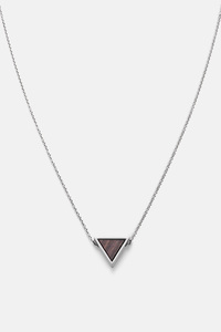 Halskette mit Holzelement 'TRIANGLE NECKLACE' - Kerbholz