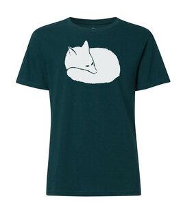 Herren T-Shirt mit Fuchs Bio & Fair teal green gedruckt auf THOKKTHOKK - ilovemixtapes