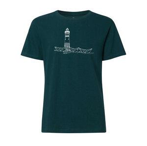 Herren T-Shirt mit Papierhafen Bio & Fair teal green gedruckt auf THOKKTHOKK - ilovemixtapes