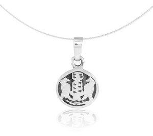 Silber Kette indianisches Sternzeichen Specht Fair-Trade und handmade - pakilia