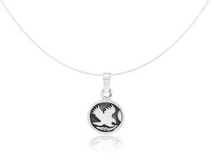 Silber Kette indianisches Sternzeichen Falke Fair-Trade und handmade - Pakili