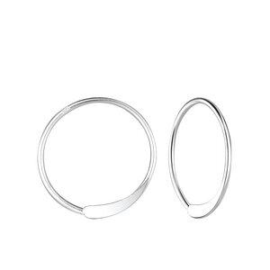 Kleine Creolen Ohrringe gestanzt - 925er Sterling Silber - LUXAA®