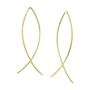 Puristischer Bügel Ohrring verschlungen aus 925er Sterling Silber - Gold - LUXAA®