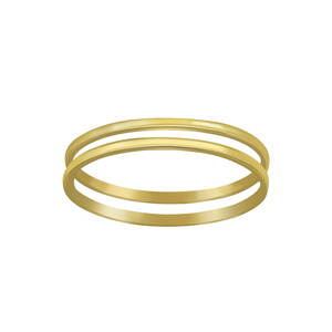 Doppelring aus 925er Sterling Silber - Gold - LUXAA®