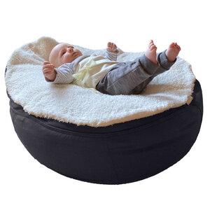 Bio Plüsch-Auflage mit breitem Puckband-Secure für Babysitzsack - Baby EcoEgg®