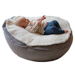 Kuschelige Babysitzsack Auflage aus Bio Teddyplüsch - Easy - Baby EcoEgg®