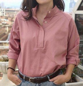 Damen Hemdbluse SKYLER aus Bio-Baumwolle - VRETENA
