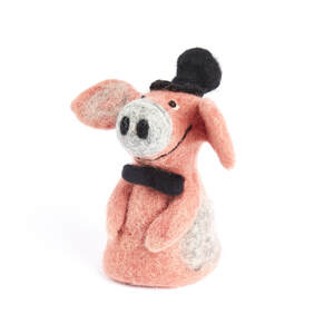 Schwein Bräutigam als Filz Eierwärmer - short'n'pietz