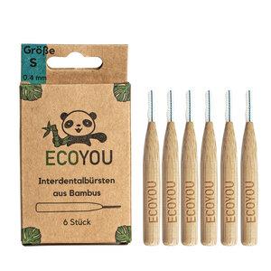 Interdentalbürsten aus Bambus - 6 Stück - Nachhaltige Zahnpflege - EcoYou