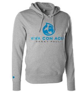 Viva con Agua Hoody Logo Herren Grau - VIVA CON AGUA