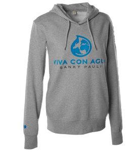 Viva con Agua Hoody Logo Damen Grau - VIVA CON AGUA