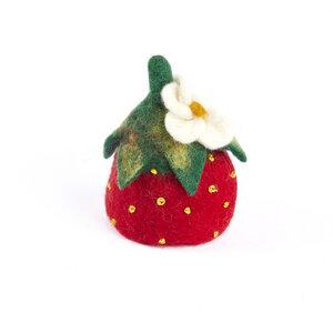Erdbeere als Filz Eierwärmer - short'n'pietz
