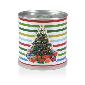 Weihnachtsbaum in der Dose - Baum, Geschenke und bunte Streifen von MacFlowers - MacFlowers