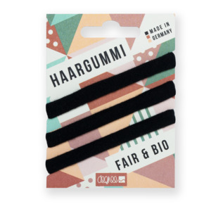 Haargummis aus Bio-Baumwolle - FAIRHAIR - 3er Pack versch. Farben - Degree Clothing