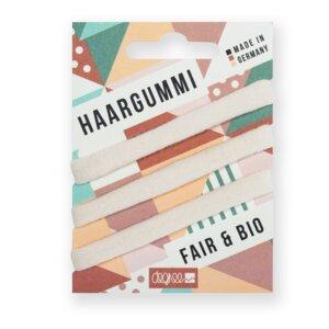 Haargummis aus Bio-Baumwolle - FAIRHAIR - 3er Pack versch. Farben - Degree Clothing