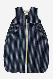 Bio Baby Schlafsack mit Wollfleecefutter ohne Ärmel mit Punkten - Lana natural wear