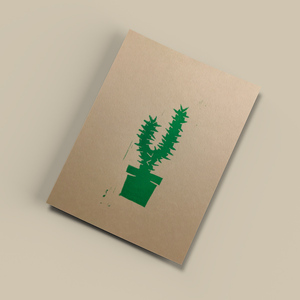Kaktus – Kunstdruck DIN A5 - Ballenito