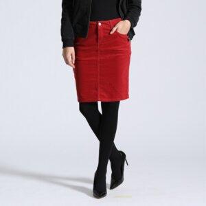 Kordrock Svea Pencil-Skirt - Feuervogl