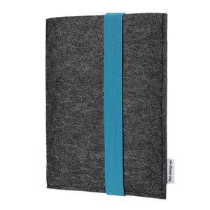 e-Book Reader Hülle LAGOA für Kindle - 100 % Wollfilz - anthrazit - flat design by Mareike Kriesten