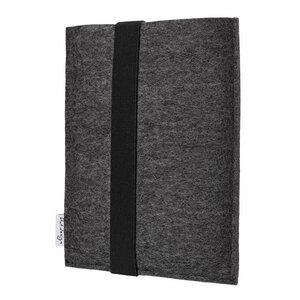 e-Book Reader Hülle LAGOA für Tolino - 100 % Wollfilz - anthrazit - flat design by Mareike Kriesten