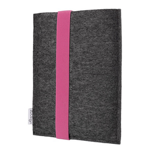 e-Book Reader Hülle LAGOA für Tolino - 100 % Wollfilz - dunkelgrau - flat.design