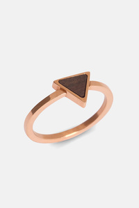 Ring mit Holzelement 'TRIANGLE RING' - Kerbholz