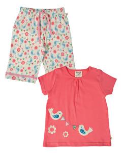 Sommer Pyjama Vögelchen - Frugi