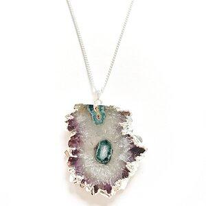 Amethyst Stalaktit Halskette - Crystal and Sage