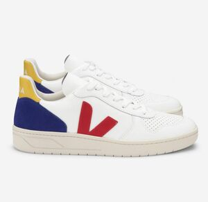 Sneaker Damen - V-10 Leather - Extra White Pekin Cobalt Tonic - Veja