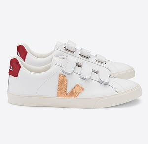 Sneaker Damen - 3-Lock Leather - Extra White Venus Marsala - Veja