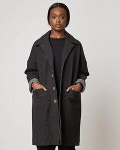 Mantel BRADFORD in schwarz mit Nadelstreifen - JAN N JUNE