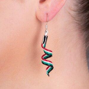 Streamer handgefertigte Ohrringe aus recyceltem Draht - Paguro Upcycle