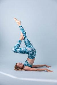 Yoga Leggings – BLUE DROP  - Ambiletics