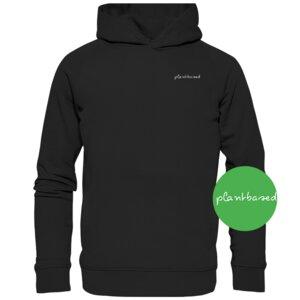 "Organic Unisex Hoodie ""Plantbased"" - BVeganly"