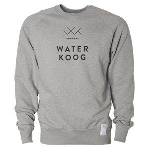 Sweatshirt WATERKOOG , grau meliert, schwarzer Print, Biobaumwolle, unisex - Waterkoog