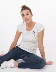 """Bio T-Shirt """"Lea Giraffe white"""" - Zerum"""