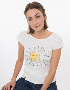 "Bio T-Shirt ""Lea Sonne Mond white"" - Zerum"