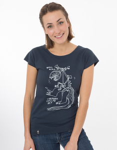 "Bio T-Shirt ""Lea Tyranno navy"" - Zerum"