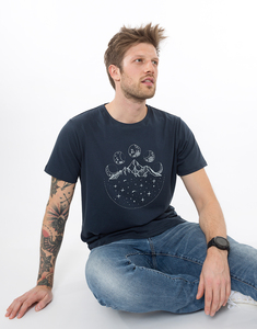 """Bio T-Shirt """"Mountainmoon navy"""" - Zerum"""